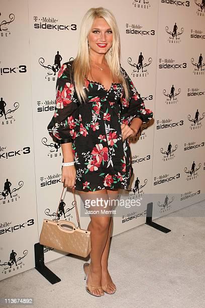 Brooke Hogan during TMobile Sidekick 3 DWade Edition launch Red Carpet at The Palms in Las Vegas California United States