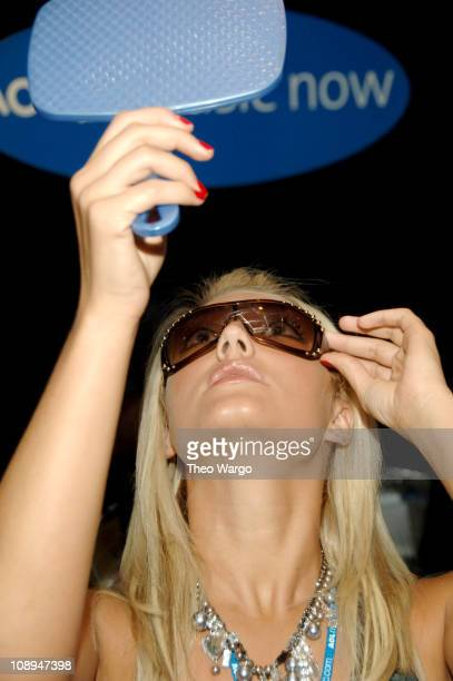 Brooke Hogan wearing Vogue at Luxottica during Luxottica at the AOL Style Lounge at AOL Studio in New York City New York United States