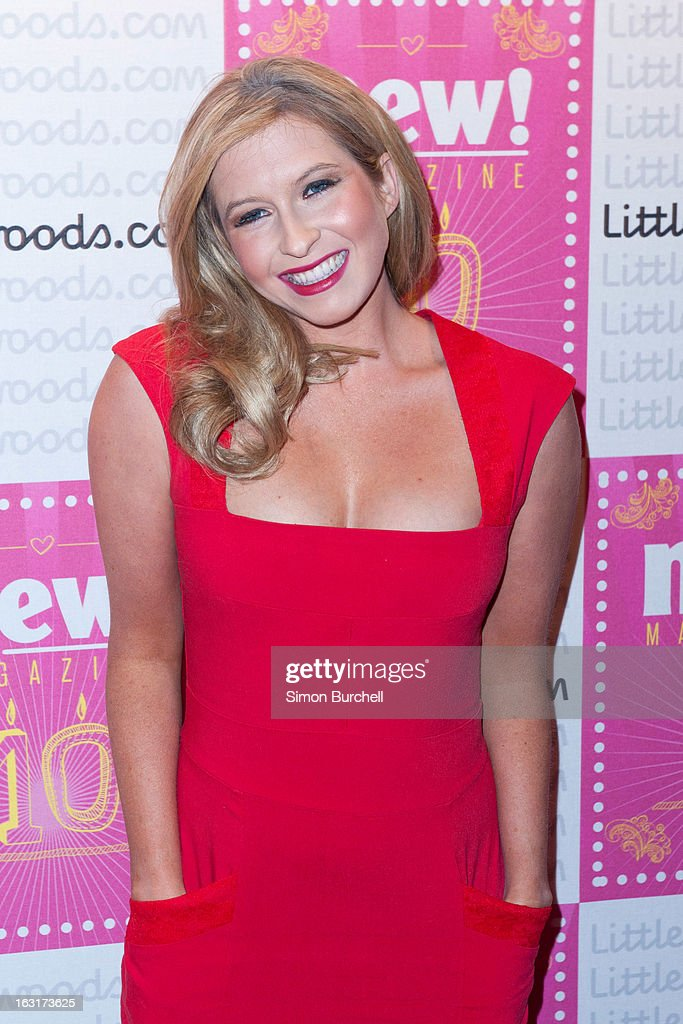 Brooke Kinsella attends as New magazine celebrate 10 years in print at Gilgamesh on March 5, 2013 in London, England.