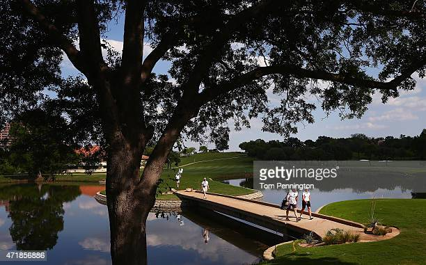 Brooke M Henderson of Canada walks onto the eighth green during Round Two of the 2015 Volunteers of America North Texas Shootout Presented by JTBC at...