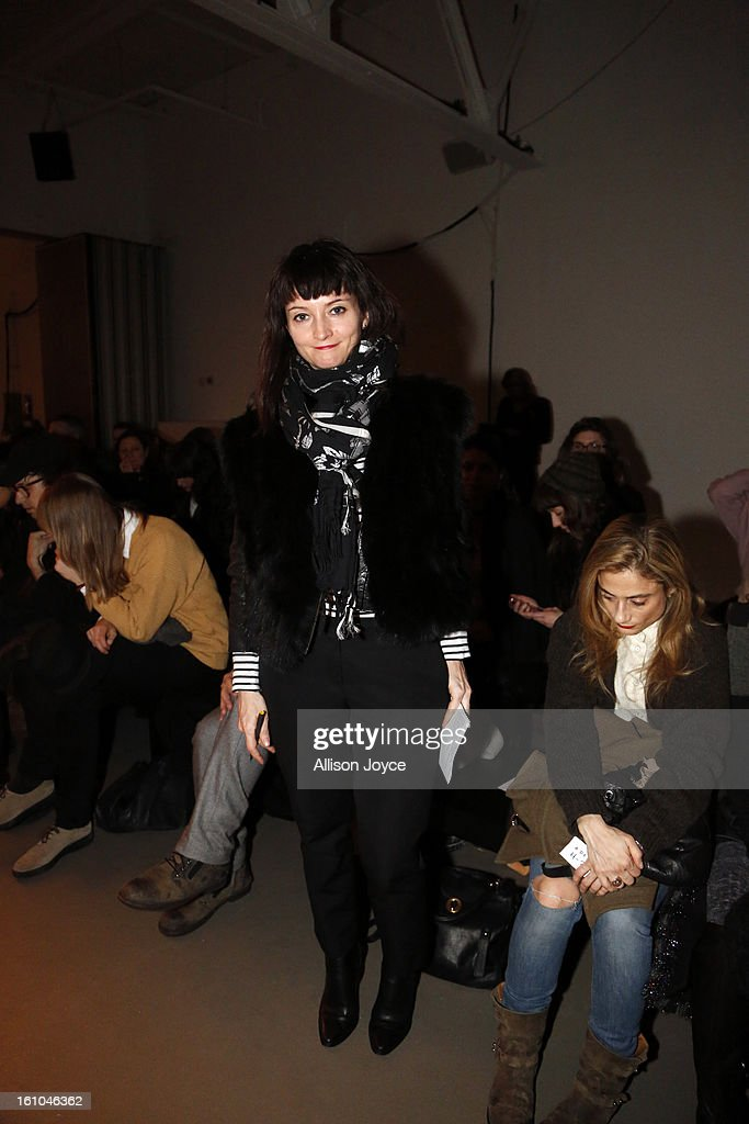 Brooke Magnaghi from WWD attends the A Detacher fall 2013 fashion show during Mercedes-Benz Fashion Week at Pier 59 Studios on February 8, 2013 in New York City.