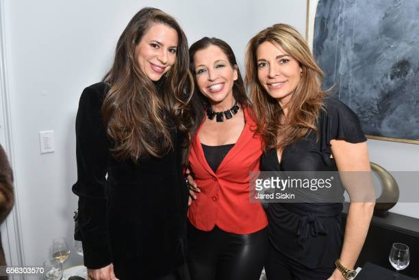 Brooke Milstein Wendy Diamond and Mira Tzur attend AVENUE Celebrates our Redesign at 14 East 11th Street on March 21 2017 in New York City