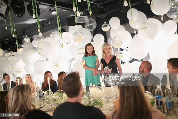 Brooke Renaud and Laila Renaud attend smartwater sparkling celebrates Jennifer Aniston and St Jude's Children's Hospital at W Hollywood on February...