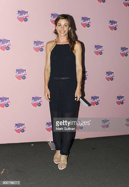 Brooke Satchwell arrives ahead of Moonlight Cinema Opening Night at Centennial Park on December 10 2015 in Sydney Australia