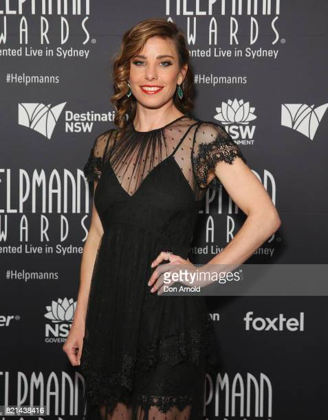 Brooke Satchwell arrives ahead of the 17th Annual Helpmann Awards at Lyric Theatre Star City on July 24 2017 in Sydney Australia