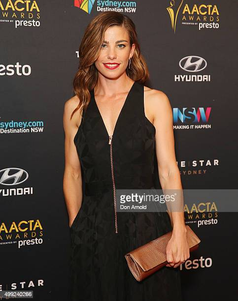 Brooke Satchwell arrives ahead of the 5th AACTA Awards industry dinner at The Star on November 30 2015 in Sydney Australia
