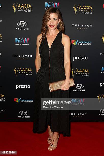 Brooke Satchwell arrives ahead of the 5th AACTA Awards Presented by Presto | Industry Dinner Presented by Blue Post at The Star on November 30 2015...