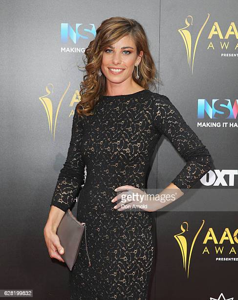 Brooke Satchwell arrives ahead of the 6th AACTA Awards at The Star on December 7 2016 in Sydney Australia
