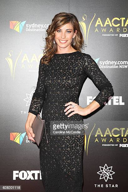 Brooke Satchwell arrives ahead of the 6th AACTA Awards Presented by Foxtel at The Star on December 7 2016 in Sydney Australia