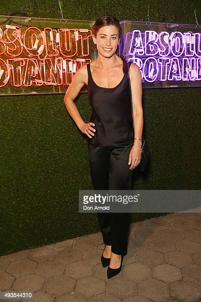 Brooke Satchwell arrives ahead of the Absolut Botanik VIP Launch Party at Centennial Park on October 21 2015 in Sydney Australia