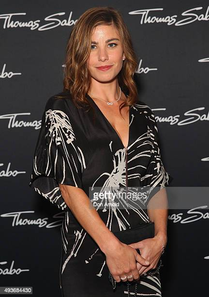 Brooke Satchwell arrives ahead of the Thomas Sabo 10 Year Celebration Cocktail Party at Zeta Bar on October 22 2015 in Sydney Australia