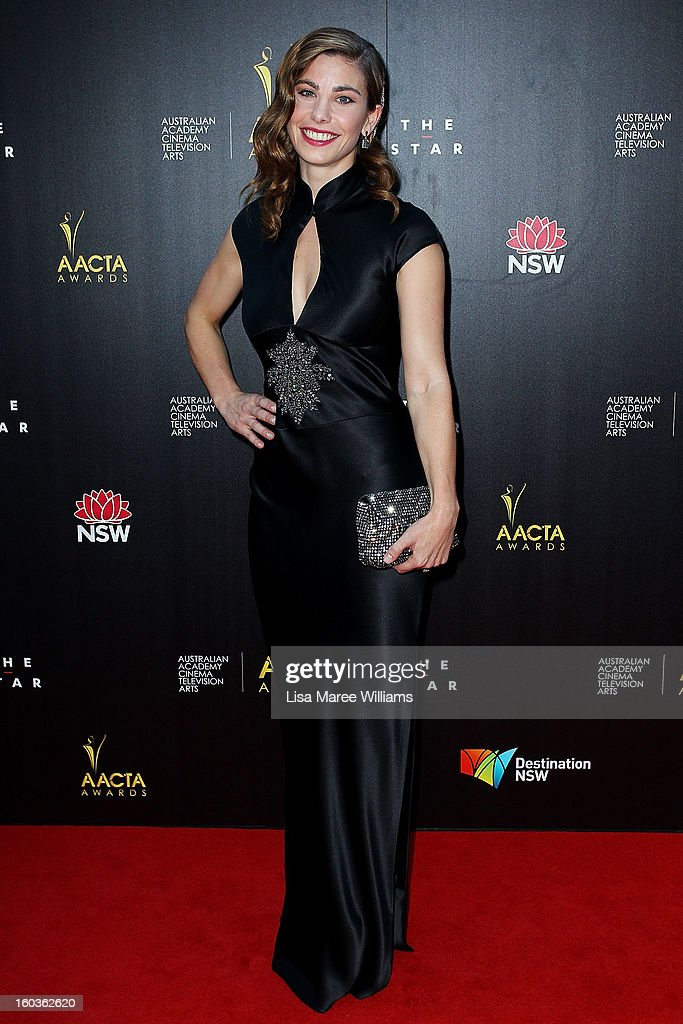Brooke Satchwell arrives at the 2nd Annual AACTA Awards at The Star on January 30, 2013 in Sydney, Australia.