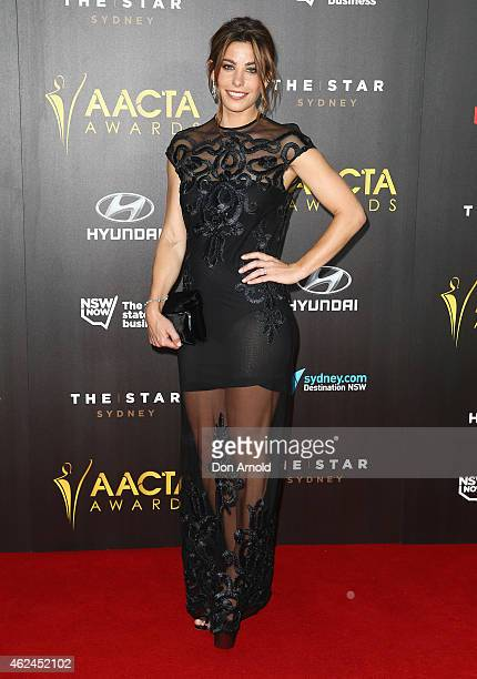 Brooke Satchwell arrives at the 4th AACTA Awards Ceremony at The Star on January 29 2015 in Sydney Australia