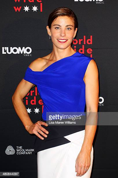 Brooke Satchwell arrives at the L'Uomo Vogue and Woolmark Company Gala and Exhibition to celebrate L'Uomo Vogue magazine's March Issue dedicated to...