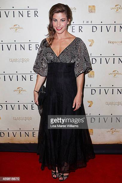 Brooke Satchwell arrives at the World Premier of 'The Water Diviner' at the State Theatre on December 2 2014 in Sydney Australia