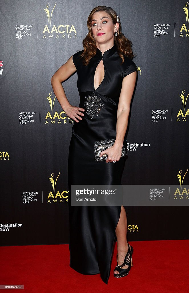 Brooke Satchwell arrives for the 2nd Annual AACTA Awards at The Star on January 30, 2013 in Sydney, Australia.