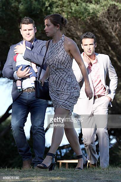 Brooke Satchwell on the set of the series finale of network Ten's 'Wonderland' on October 7 2014 in Sydney Australia