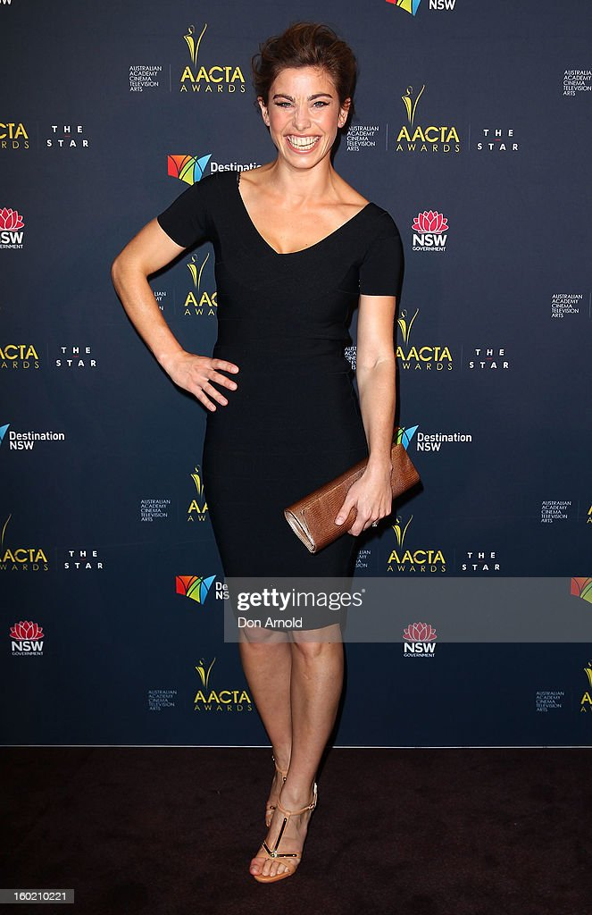 Brooke Satchwell poses during the 2nd Annual AACTA Awards Luncheon at The Star on January 28, 2013 in Sydney, Australia.