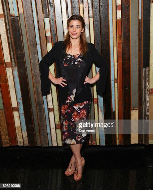Brooke Satchwell poses during the Helpmann Awards 2017 Nomination Announcement at Roslyn Packer Theatre on June 19 2017 in Sydney Australia