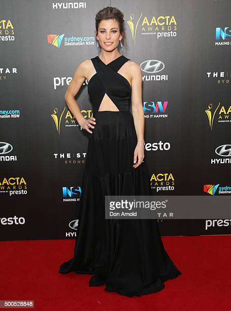 Brooke Satchwell poses on the red carpet for the 5th AACTA Awards at The Star on December 9 2015 in Sydney Australia