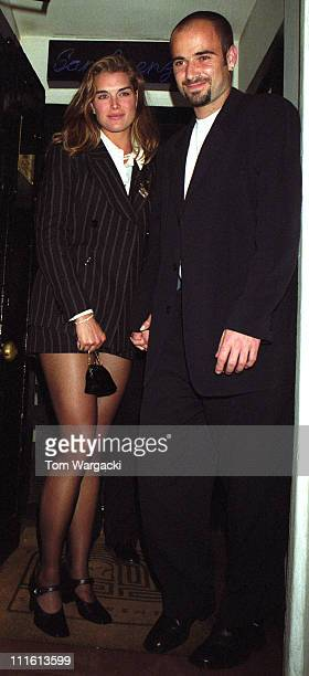 Brooke Shields and Andre Agassi leaving San Lorenzo Restaurant on 3 July 1995