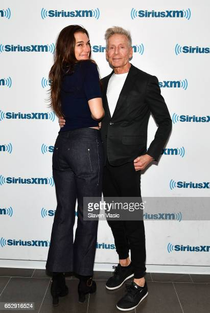 Brooke Shields and Calvin Klein visit SiriusXM Studios on March 13 2017 in New York City