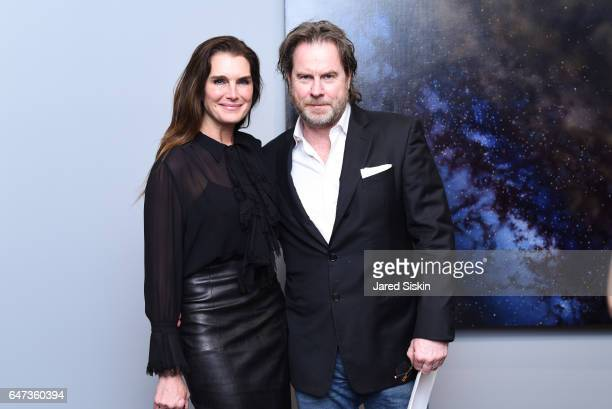 Brooke Shields and Chris Henchy attend Damian Loeb Sgr A* at Acquavella Galleries on March 2 2017 in New York City