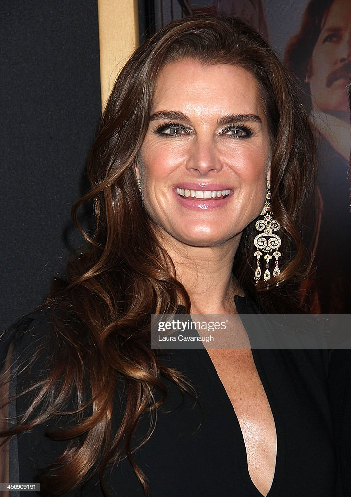 <a gi-track='captionPersonalityLinkClicked' href=/galleries/search?phrase=Brooke+Shields&family=editorial&specificpeople=202197 ng-click='$event.stopPropagation()'>Brooke Shields</a> and Chris Henchy attend the 'Anchorman 2: The Legend Continues' U.S. premiere at Beacon Theatre on December 15, 2013 in New York City.