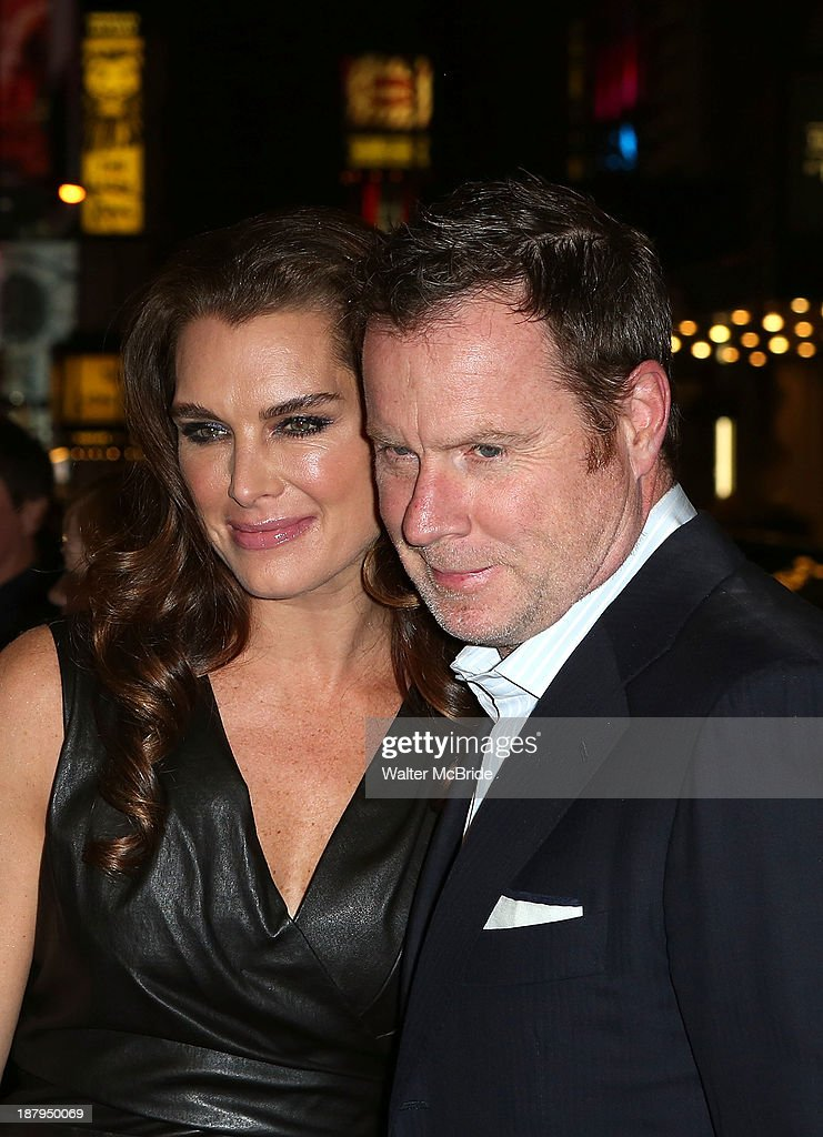 Brooke Shields and Chris Henchy attend the 'Billy Crystal - 700 Sundays' Broadway Opening Night at the Imperial Theatre on November 13, 2013 in New York City.