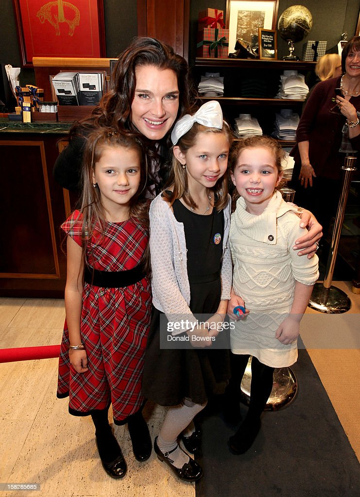 <a gi-track='captionPersonalityLinkClicked' href=/galleries/search?phrase=Brooke+Shields&family=editorial&specificpeople=202197 ng-click='$event.stopPropagation()'>Brooke Shields</a> and guests attend The Brooks Brothers Hosts Seventh Annual Holiday Celebration To Benefit St Jude Children's Research Hospital on December 12, 2012 in New York City.