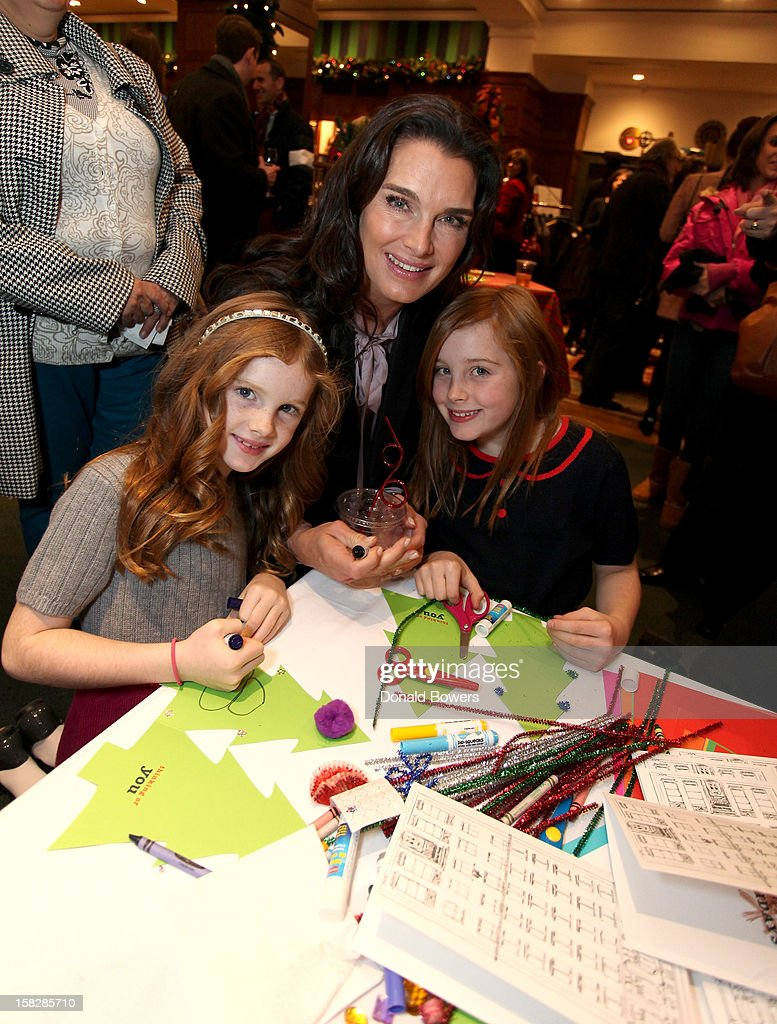 Brooke Shields and her daughters attend The Brooks Brothers Hosts Seventh Annual Holiday Celebration To Benefit St Jude Children's Research Hospital on December 12, 2012 in New York City.