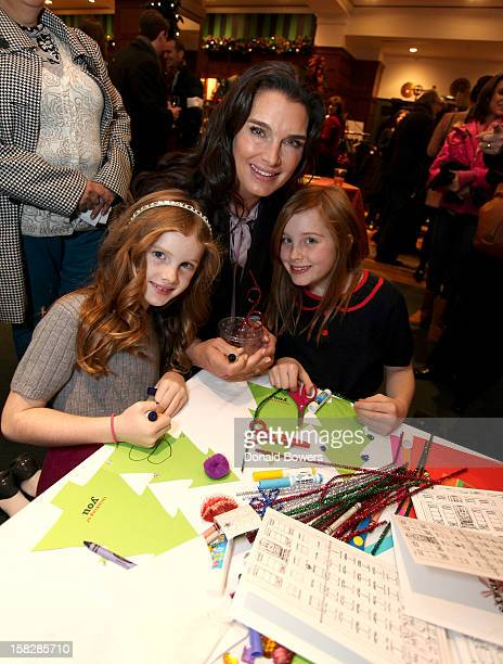 Brooke Shields and her daughters attend The Brooks Brothers Hosts Seventh Annual Holiday Celebration To Benefit St Jude Children's Research Hospital...