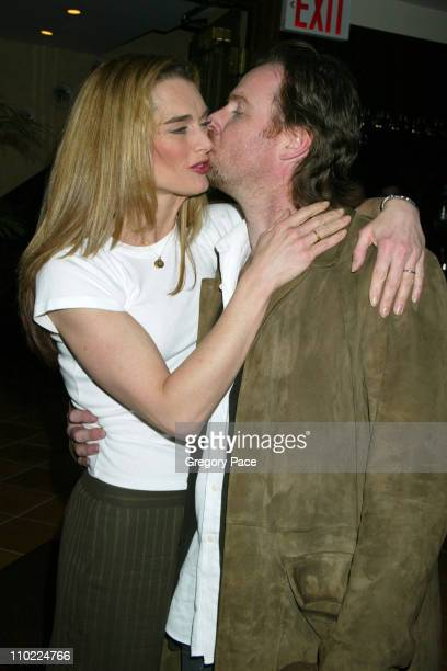 Brooke Shields and husband Chris Henchy during Brooke Shields Hosts A Farewell Party for the Cast and Crew of 'Wonderful Town' on Broadway at Tony's...