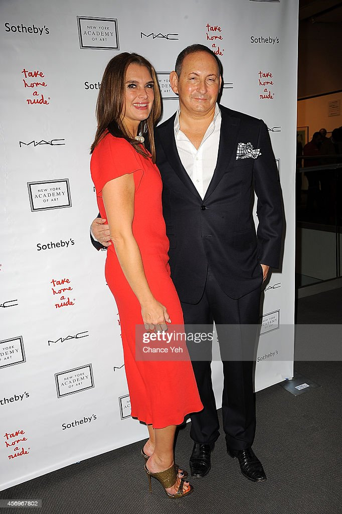 Brooke Shields and John Demsey attends 2014 Take Home A Nude Event at Sotheby's on October 9 2014 in New York City