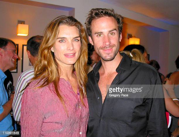 Brooke Shields and Joseph Fiennes during The '24 Hour Plays' Performance Benefit Gala for the Old Vic Theatre After Party at Old Vic in London Great...