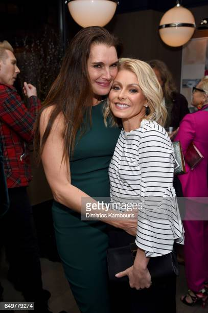 Brooke Shields and Kelly Ripa attends the 'Two Turns From Zero' Book Launch Event at The Regency Bar and Grill on March 8 2017 in New York City