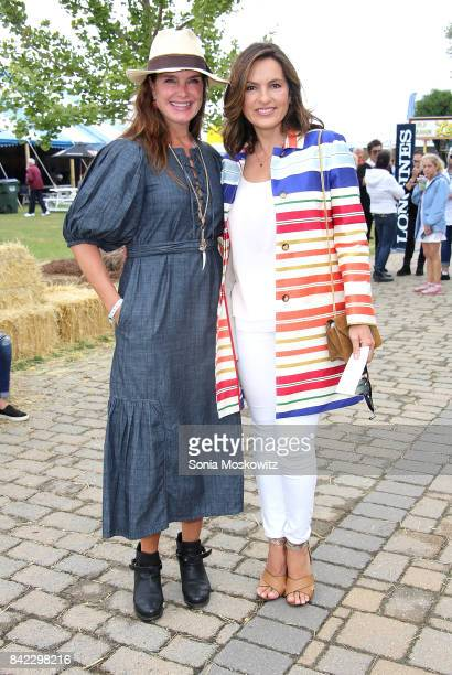 Brooke Shields and Mariska Hargitay attend the 2017 Hampton Classic Horse Show Grand Prix competition on September 3 2017 in Bridgehampton New York