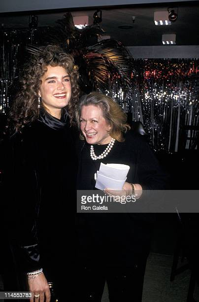Brooke Shields and mother Teri Shields during 'Hooray For Hollywood' AIDS Benefit April 5 1988 at Bloomingdale's in New York City New York United...
