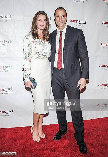 Brooke Shields and Nigel Barker attend the Scribbles To Novels 10th Anniversary Gala at Pier Sixty at Chelsea Piers on April 16 2015 in New York City