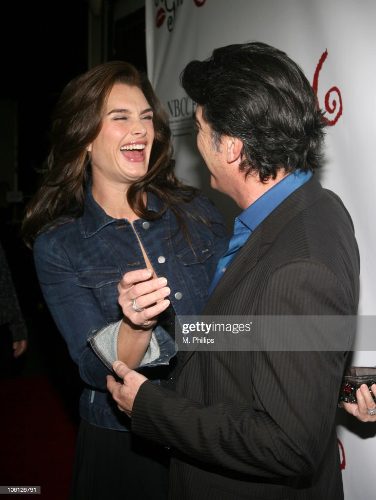 Brooke Shields and Peter Gallagher during Les Girls 6 Cabaret at The Avalon in Hollywood California United States