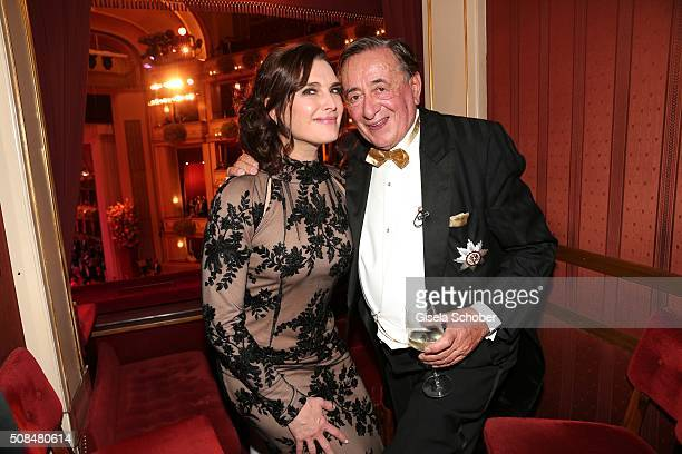 Brooke Shields and Richard Lugner during the Opera Ball Vienna 2016 at Vienna State Opera on February 4 2016 in Vienna Austria