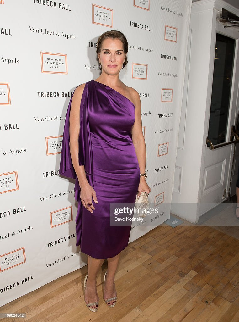 Brooke Shields arrives at the 2015 Tribeca Ball at New York Academy of Art on April 13, 2015 in New York City.