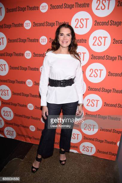 Brooke Shields arrives at the 'Man From Nebraska' Off Broadway Opening Night at Second Stage Theatre on February 15 2017 in New York City