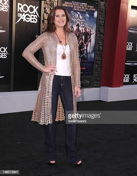 Brooke Shields arrives at the 'Rock Of Ages' Los Angeles Premiere at Grauman's Chinese Theatre on June 8 2012 in Hollywood California