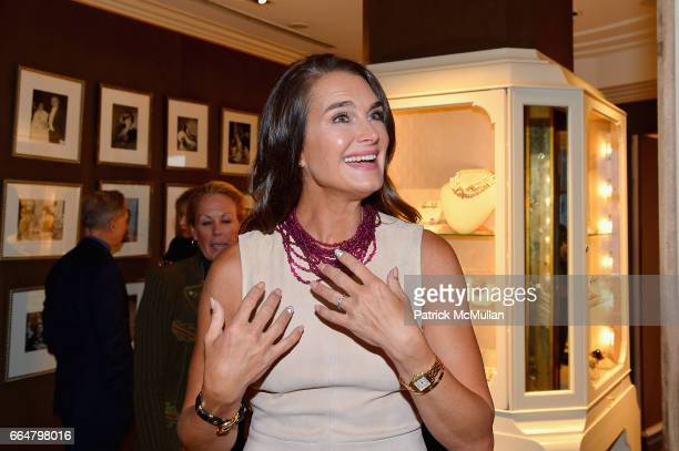 Brooke Shields attend Verdura Celebrates the Hearst Castle Preservation Foundation at Verdura Showroom on April 4 2017 in New York City