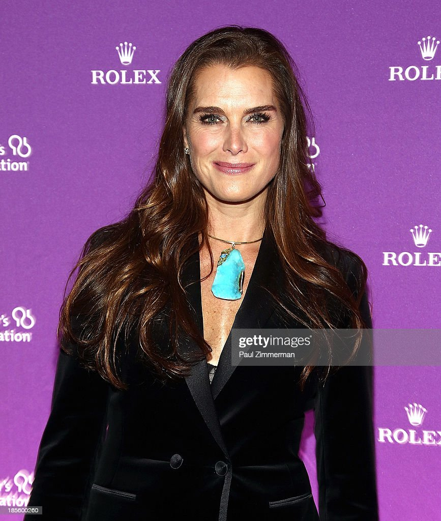 <a gi-track='captionPersonalityLinkClicked' href=/galleries/search?phrase=Brooke+Shields&family=editorial&specificpeople=202197 ng-click='$event.stopPropagation()'>Brooke Shields</a> attends 2013 Alzheimer's Association Rita Hayworth 30th Anniversary gala at The Waldorf=Astoria on October 22, 2013 in New York City.