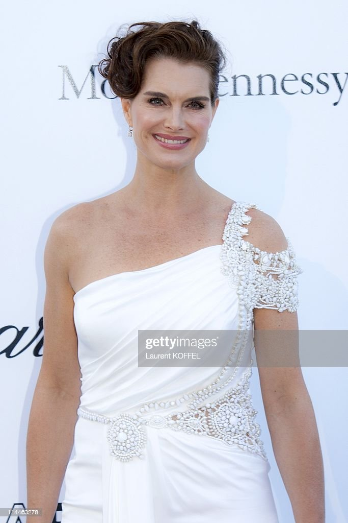 <a gi-track='captionPersonalityLinkClicked' href=/galleries/search?phrase=Brooke+Shields&family=editorial&specificpeople=202197 ng-click='$event.stopPropagation()'>Brooke Shields</a> attends amfAR's Cinema Against AIDS Gala during the 64th Annual Cannes Film Festival at Hotel Du Cap on May 19, 2011 in Antibes, France.