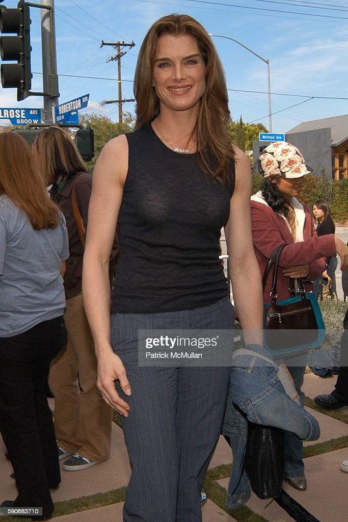 Brooke Shields attends John Varvatos' 3rd Annual Stuart House Charity Benefit at John Varvatos Boutique on March 5 2005 in West Hollywood California