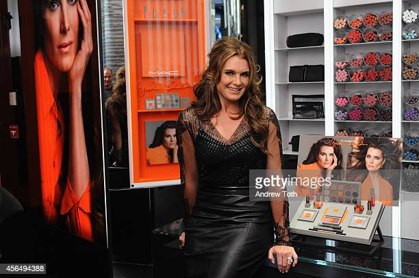Brooke Shields attends MAC Cosmetics launch of the Brooke Shields Collection at 5th Avenue Flagship in NYC on October 1 2014 in New York City