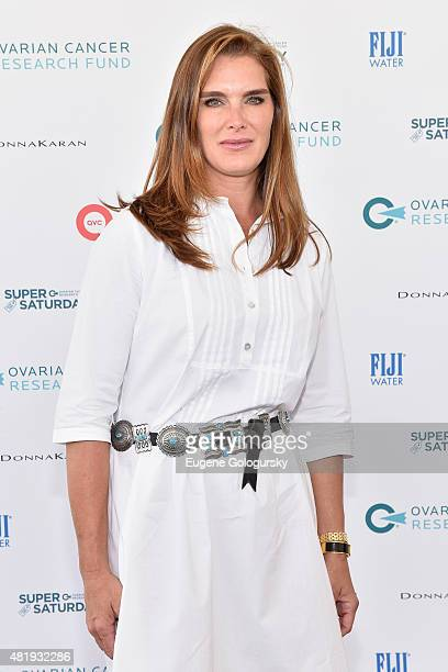 Brooke Shields attends OCRF's 18th Annual Super Saturday NY CoSponsored by FIJI Water on July 25 2015 in Water Mill New York